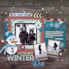 Layout using Fancy Pants' Timbergrove collection by Brenda Mellott Cazes.