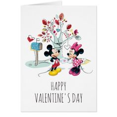 Mickey & Minnie | Valentine's Day Card - tap, personalize, buy right now!