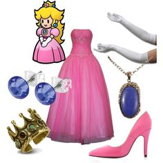 Princess Peach, created by dotfrye on Polyvore