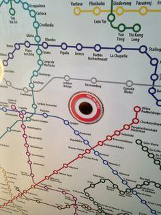 Cosmopolitan Metro Map 50x70cm, farvestuff posters | Cocorico Déco