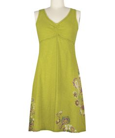 Look at this #zulilyfind! Spinach Green Schaffer Organic Dress #zulilyfinds