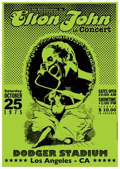 In honor of the Nashville concert tomorrow night, here is a throwback poster from 1975. Groovy!