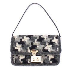 673c60d22ca2 Women s Gray Miss Linda Wool Shoulder Bag. Modemani Outlet · Dolce   Gabbana  Bags