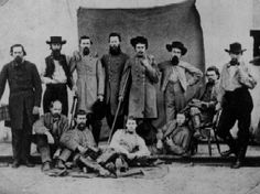 """John Hunt Morgan and his Raiders. """"Our State will not I hope secede I have no doubt but Lincoln will make a good President at least we ought to give him a fair trial & then if he commits some overt act all the South will be a unit."""" ~ Morgan"""