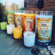 ♡Air moves us, fire transforms us, water shapes us & earth heals us ♡ fire, air, earth, water..elements eco friendly soy candles keep it natural  www.facebook.com/withlovecreate 💞