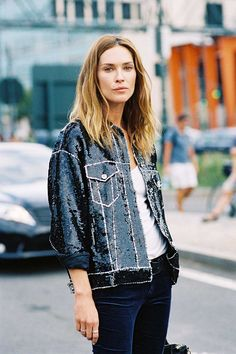 Sequins jackets that are sure to complete any party outfit.  12/18/2015