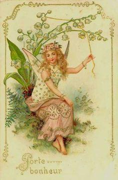 thefaeriefolk:  Vintage Fairy postcard