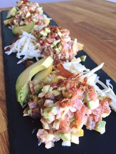 Tuna tartare with hoisin sauce and rémoulade by Geneviève Everell Tuna Fish Recipes, Whole30 Fish Recipes, Raw Food Recipes, Asian Recipes, Healthy Recipes, Shellfish Recipes, Seafood Recipes, Tartare Recipe, Sauce Tartare