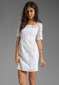 NANETTE LEPORE Sandy Beach Dress in White at Revolve Clothing - Free Shipping!