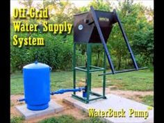 Hand water pumps come in various styles and lift water from either shallow or deep wells. The WaterBuck Pump from Well WaterBoy Products can yield from a static water level of over 80 feet and fill a receptacle in about 7 minutes. Hand Pump Well, Deep Well Pump, Renewable Energy Projects, Off Grid House, Mother Earth News, Water Storage, Food Storage, Water Well, Off The Grid