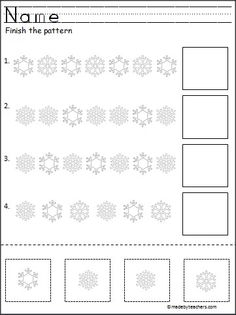 This is a winter cut and paste pattern activity for winter.