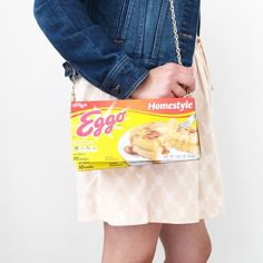 DIY Eggo Waffle purse for Eleven costume, Stranger Things