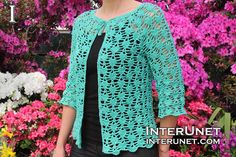 Lace Cardigan - free pattern although instructions are for size s/m only. Different yarn/hook may produce a different size.