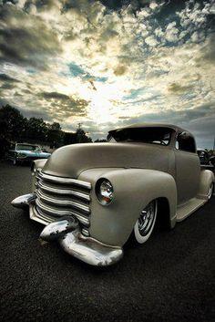 vintage truck + beautiful amazing sky = awesome photo!