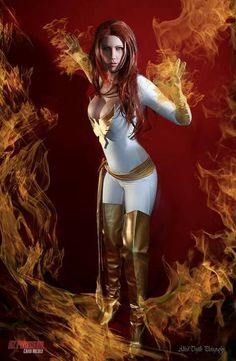 Character: White Phoenix of the Crown (Jean Grey) / From: MARVEL Comics 'Uncanny X-Men' / Cosplayer: AZ Powergirl Cara Nicole #cosplay