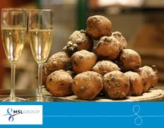 A New Year's Eve tradition, 'Oliebollen' (deep-fried dough balls with icing sugar) go particularly well with a glass of champagne, Amsterdammers tell us.