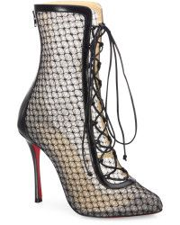 Christian Louboutin | Hotero Mesh Lace-up Booties | Lyst
