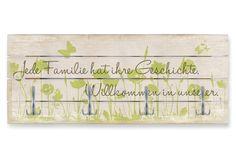 Holz Garderobe Jede Familie hat ihre Geschichte... | wall-art.de