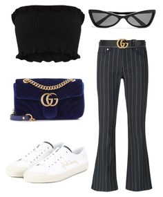 """""""Untitled #62"""" by kiyaresner ❤ liked on Polyvore featuring Versace, Gucci, Yves Saint Laurent and Balenciaga"""