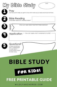 How To Help Your Kids Study The Bible | Wildly Anchored // Faith, Family, Homeschool