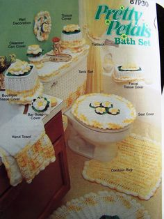 Pretty Petals Bath Set Crochet Patterns by by MargaretsPlace, $4.88