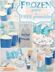 FROZEN movie party plus FREE printables #frozen #disney #printable