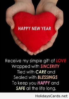 Happy new year gift of love
