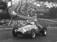 Belgian GP Alberto Ascari with a Ferrari tipo 500 in 1952. by Beast 1, via Flickr