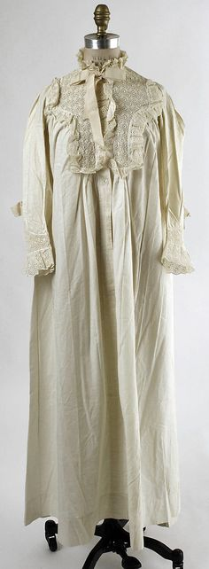 My favorite part of the day is when I get to escape the corset and slip into my cotton night gown.