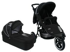 Valco Matrix Plus Dart Black with Bassinet $420 **favourite** three air pumped tyres...
