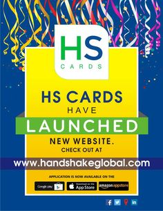 HS Cards have launched a new website checkout www.handshakeglobal.com Digital Business Card, Business Cards, App Store, Google Play, Product Launch, Website, Lipsense Business Cards, Name Cards, Visit Cards