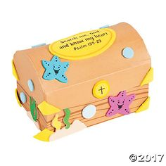 VBS Under the Sea Treasure Chest Prayer Box Craft Kit