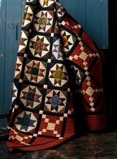"""""""Pieces of the Past"""" by Maggie Hayes, teacher at Pine Needle Quilt Shop Sampler Quilts, Star Quilts, Scrappy Quilts, Quilting Projects, Quilting Designs, Quilting Ideas, Quilt Block Patterns, Quilt Blocks, Civil War Quilts"""