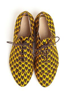 Liam Fahy SS13 Print Shoes #Prints #Ankara.... lovely with a great pair of denim