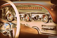 Vintage Dash - Rustic Wall Art - Classic Car Art Prints - Retro Print - Vintage Car Photography - Garage Art