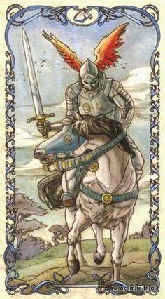 Knight of Swords - Tarot Mucha