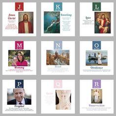 LDS ABC quiet book printable by estelle    #MormonLink.com