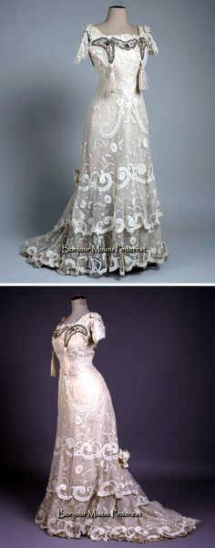 Wedding dress, Vienna, ca. 1907–08. White tulle & lace. Museum of Arts & Crafts, Zagreb, and Cosmopolitan Croatia