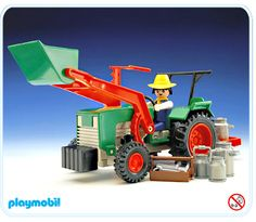 Playmobil tractor and accessories
