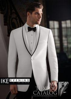 White 'Waverly' Tuxedo from http://www.mytuxedocatalog.com/catalog/rental-tuxedos-and-suits/c1009-white-waverly-slim-tuxedo/
