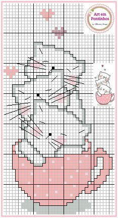 Cat Cross Stitches, Cross Stitch Bookmarks, Cross Stitch Cards, Cross Stitching, Cross Stitch Embroidery, Embroidery Patterns, Cross Stitch Love, Cross Stitch Animals, Cross Stitch Designs