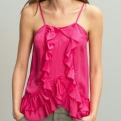Banana Republic silk cupcake top, size small, NWT This is a pretty pink silk Banana Republic Heritage camisole with adjustable straps. Banana Republic Tops