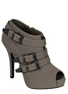 Glam Grey Booties
