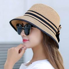 Cheap beach hat, Buy Quality hats for women summer directly from China boater ha… – Hair Internet Crochet Summer Hats, Crochet Hats, Sombrero A Crochet, Summer Hats For Women, Boater Hat, Girl With Hat, Grunge Fashion, Sun Hats, China