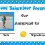 Free printable Behavior Award Certificates with your own photo! Many more free printable award certificates on this site. Certificate Maker, Award Certificates, Behavior, Awards, Free, Behance, Award Display, Manners