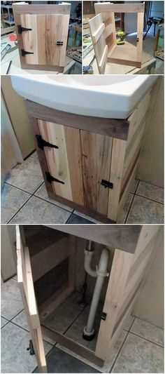 Such a sophisticated wood pallet interesting furniture design for the house bathroom has been put inside this wood pallet designing art work. It is all settled with the amazing sink with the cabinet division set that is much set with the stylish form of the appearance into it.