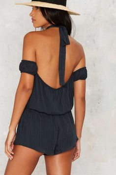 Armed and Dangerous Halter Romper - Clothes | Rompers + Jumpsuits | Rompers