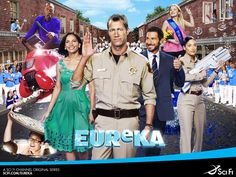 Eureka > a quirky little town, full of brainieacts  where anything can go from norm to mad in a twinkling of the eye ... Gotta love this show