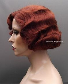Finger Wave Wig Rose #130 Fox Red  Quality!  Fingerwave .. Theatre Wig #FullWig