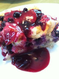 Overnight Blueberry French Toast - Oh my!  Prep tonight and breakfast tomorrow.